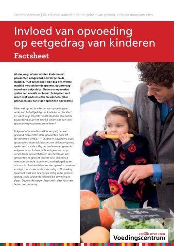 Invloed van opvoeding op eetgedrag van kinderen