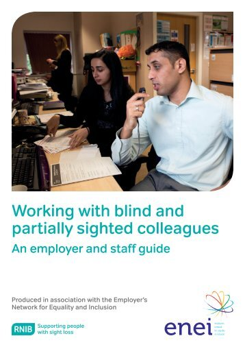 Working with blind and partially sighted colleagues