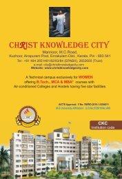 e-brochure - Christ Knowledge City
