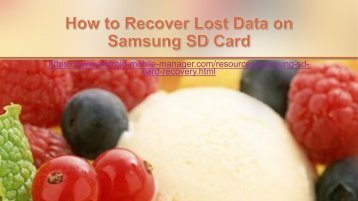 How Can I Restore Lost Files on Samsung SD Card