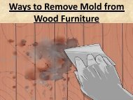 Ways to Remove Mold from Wood Furniture
