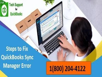 How to troubleshoot QuickBooks Sync Manager Error? (