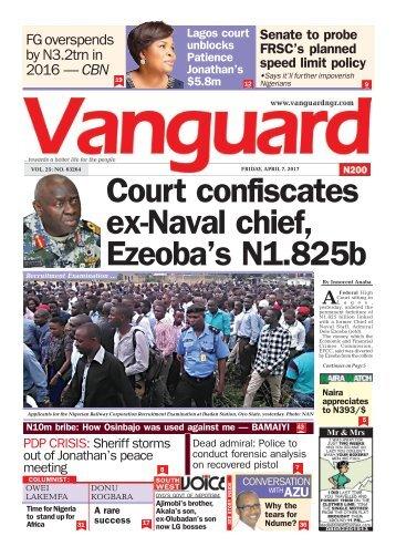 07042017 - Court confiscates ex-Naval chief, Ezeoba's N1.825b