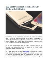 Buy Best Powerbank in India Online