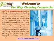 Office Cleaning New Jersey|ECO-WAY Cleaning Commercial