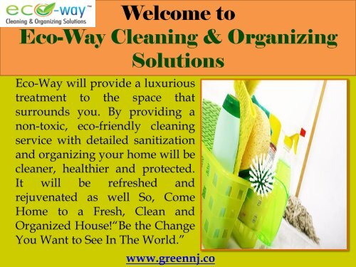 House and Office Cleaning New Jersey| Eco-Way Cleaning & Organizing Solutions