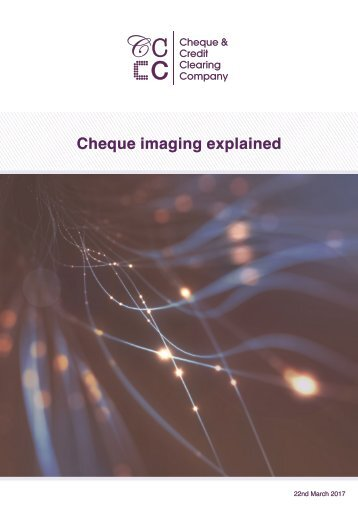 Cheque imaging explained