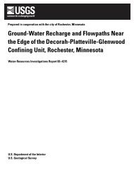 Ground-Water Recharge and Flowpaths Near the Edge of the ...