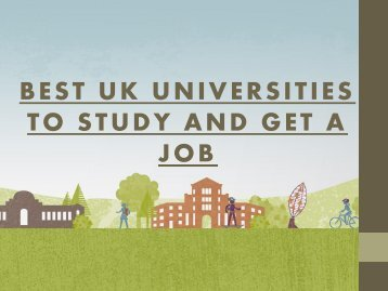 Best UK Universities to Study and Get a Job