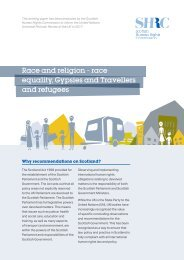 Race and religion – race equality Gypsies and Travellers and refugees
