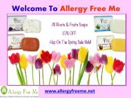 Organic Bath and Body Products  Allergy Free Me