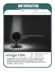 RIM Newsletter April 2017 Issue