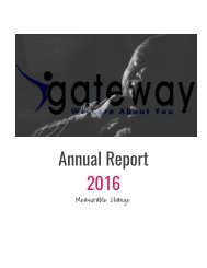 Gateway Counseling Center Annual Report 2016