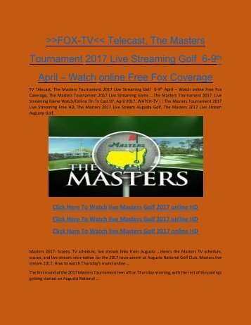 Fox-tv-cast-Masters-2017-Live-Streaming-Golf-online-telecast