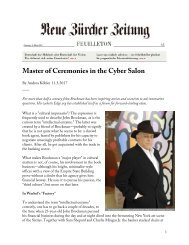 Master of Ceremonies in the Cyber Salon