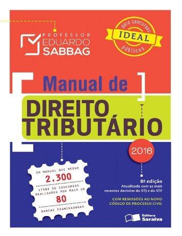 Manual de Direito Tributario 8a Ed. Eduardo Sabbag 2016.pdf