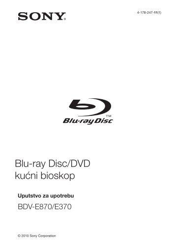 Sony BDV-E870 - BDV-E870 Mode d'emploi Serbe