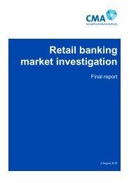 Retail banking market investigation
