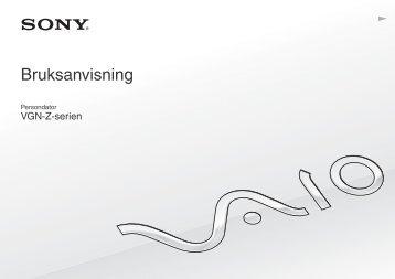 Sony VGN-Z51MG - VGN-Z51MG Mode d'emploi Suédois