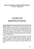 Living in Righteousness - TRAC WSCS   - Page 2