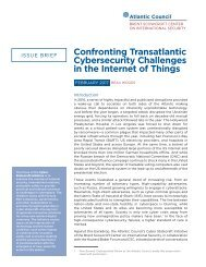 Confronting Transatlantic Cybersecurity Challenges in the Internet of Things