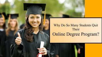 Why Do So Many Online Students Quit?