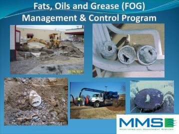 Fats, Oils and Grease (FOG) Management & Control Program