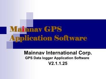 Upload your record tracks to Google Earth - Mainnav