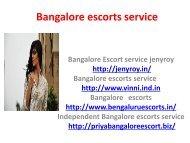 Bangalore escorts service