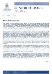 Vol. 35 - 27 November 2012 - Melbourne Grammar School