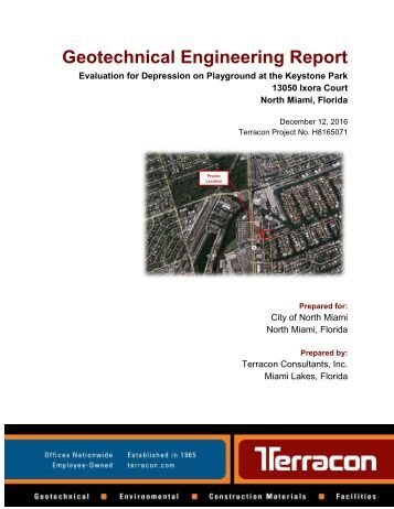 Geotechnical Engineering Report