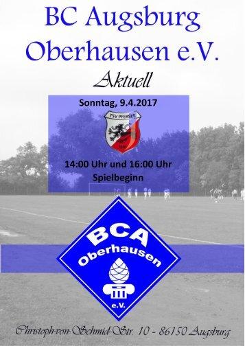 2017.04.09 Heimspiel  gegen den TSV Pfersee II + III