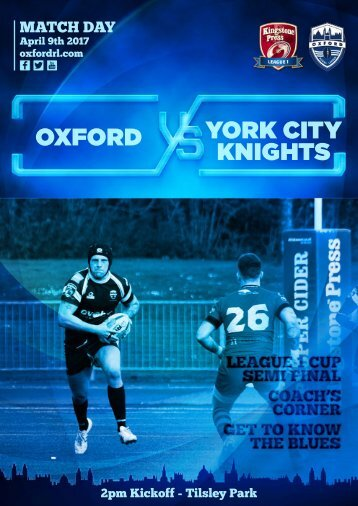 OXFORD YORK CITY KNIGHTS