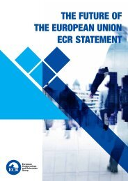 THE FUTURE OF THE EUROPEAN UNION ECR STATEMENT