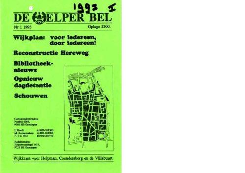 Helperbel 1993, nummer 1