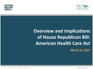 Overview and Implications of House Republican Bill American Health Care Act