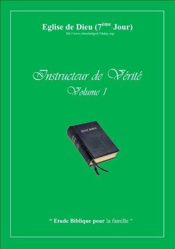 l'instructeur de la vérité - Vol I - Format A5