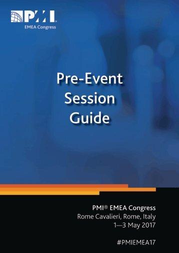 Pre-Event Session Guide
