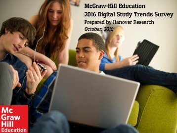 McGraw-Hill Education 2016 Digital Study Trends Survey