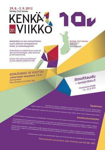 29.8.–2.9.2012 - kenkäviikko