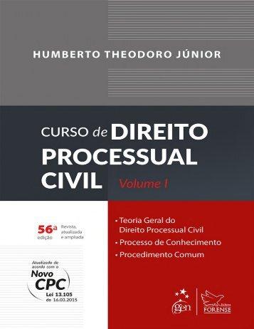 Curso de Direito Processual Civil - Vol.1 - 47ª Ed. (2016) - Humberto Theodoro Junior