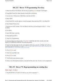 MG ZT / Rover 75 Programming New Key - Autodiagnos