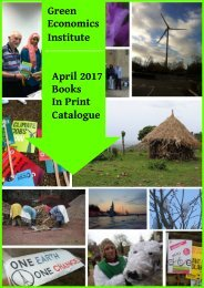 Green Economics Institute April 2017 Books In Print Catalogue