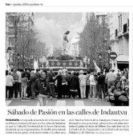 Sábado de Pasión en las calles de Indautxu