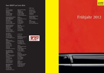 Vorschau Frühjahr 2012 - Grafit Verlag