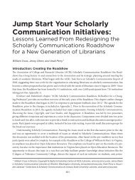 Jump Start Your Scholarly Communication Initiatives