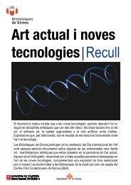 Art actual i noves tecnologies Recull