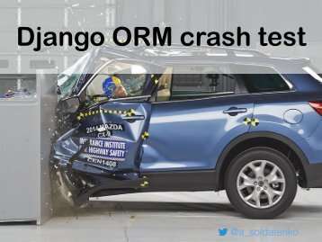 Django ORM crash test
