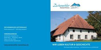 Zechenwihler Hotzenhaus Denkmal und Kulturzentrum