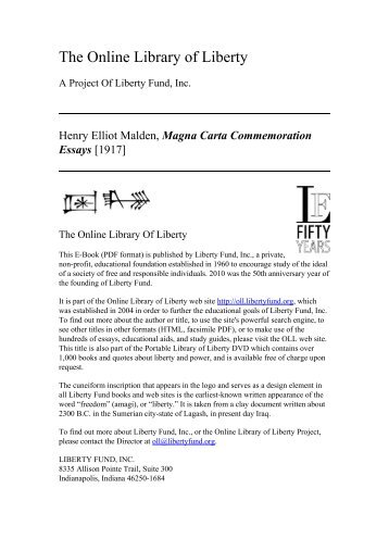 magna carta the ius commune and english common law online library of liberty magna carta commemoration essays